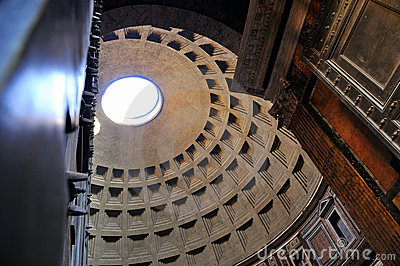 Through the doors of the Pantheon