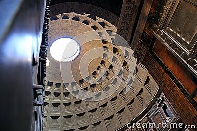Through the doors of the Pantheon