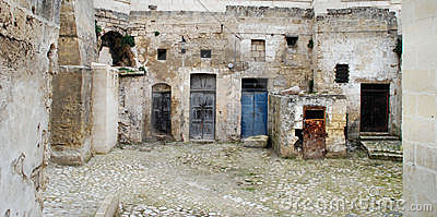 Doors in the Sassi in Matera