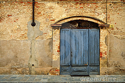 Doorway in brick wall
