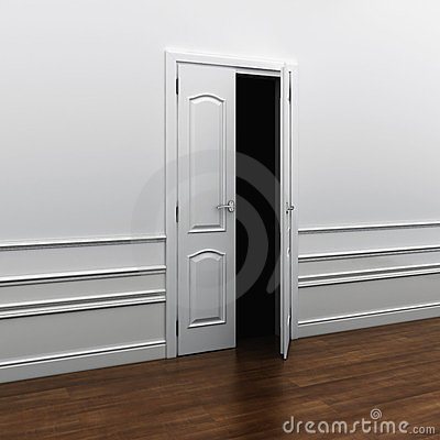 Doorway into the darkness of fear