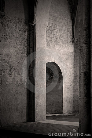 Free Doorway In Old French Church Royalty Free Stock Image - 3432466