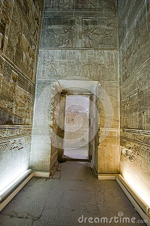 ... doorway in an ancient egyptian temple with hieroglyphic carvings