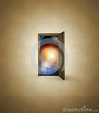 Free Doorway Opens To Space Royalty Free Stock Photography - 66172107