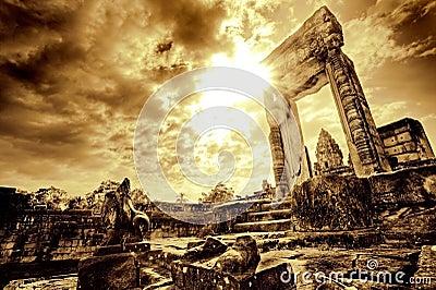 Doorway in temple ruin