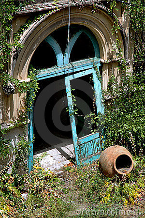 Doorway To Abandoned Building In Taormina