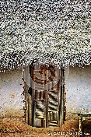 Doorway to Thatched Hut