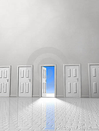 Free Doorway Two Royalty Free Stock Photography - 664697