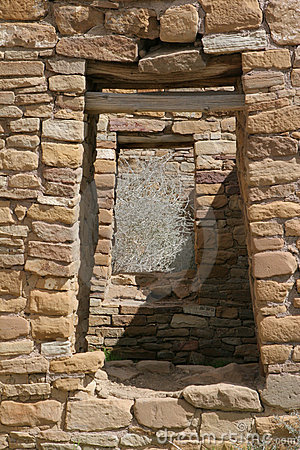 Doorways in ancient Native American village
