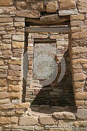 Doorways in ancient Native American village