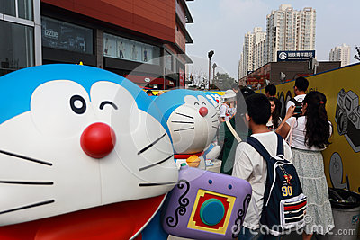 Doraemon exhibition Editorial Photo