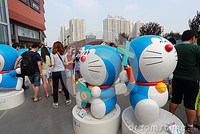 Doraemon exhibition Editorial Stock Image