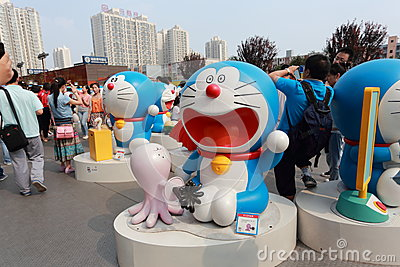 Doraemon exhibition Editorial Image