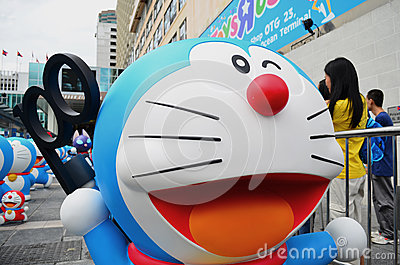Doraemon Holding the Event Original Secret Gadget Editorial Photo