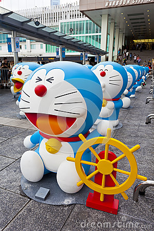 Doreamon exhibition in Hong Kong Editorial Stock Image