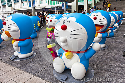 Doreamon exhibition in Hong Kong Editorial Photography