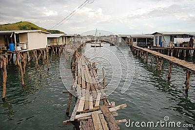 Dorf auf Wasser