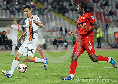 Dorin Rotariu in Dinamo Bucharest-Shaktar Donetk Editorial Stock Image