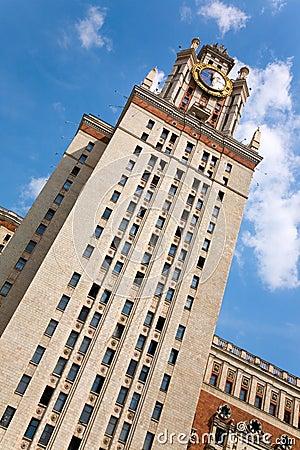 Dormitorio de la universidad de estado de Moscú
