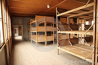 Dormitory in the Dachau Concentration camp Editorial Stock Image