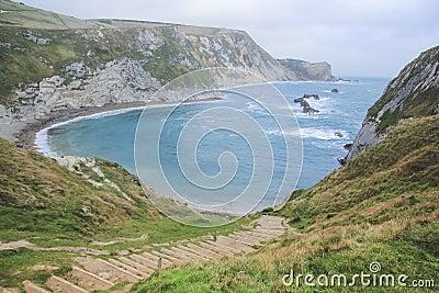Dorset coastline durdle dor lulworth england