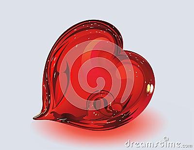 Dos corazones de cristal