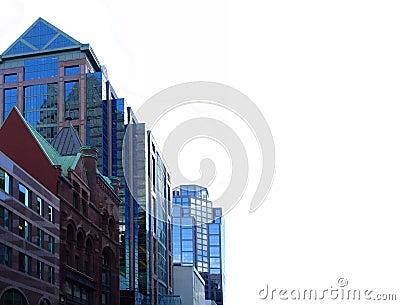 Dos edifícios baixa dentro de Toronto