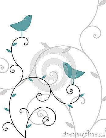 Dos pájaros