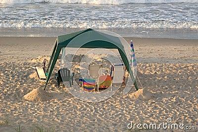 Dossel vazio da praia