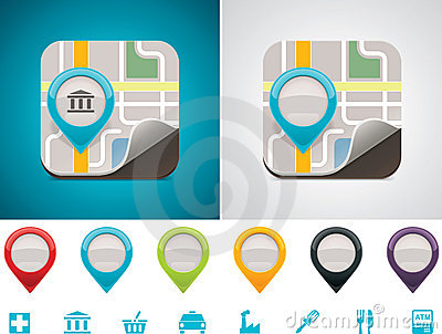 Dostosowana ikony lokaci mapa