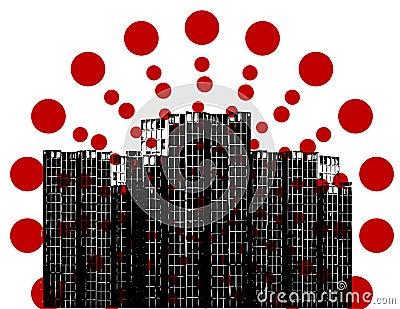 Dot in the city.