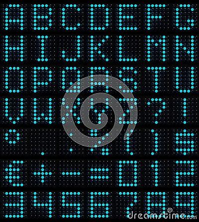 Free Dot-matrix Font Royalty Free Stock Photo - 2917445