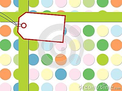Dot pattern with gift box