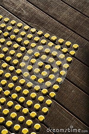 Free Dot Pattern On Wood. Stock Photo - 4484050