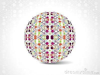 dotes retro party background with disco ball,