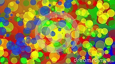Dots Background Loop colorato video d archivio