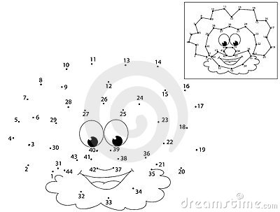 Dots Game CLOWN Stock Photos - Image: 14917613