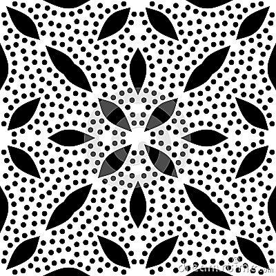 Free Dots Lief Seamless Black & White Pattern Royalty Free Stock Image - 109073716