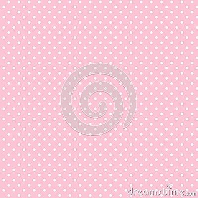 Dots liten white för pastellfärgad rosa polka