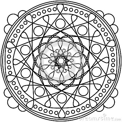 Dots mandala round ornament