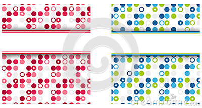 Dotted colorful background