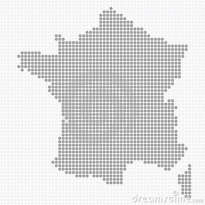 Dotted France Map