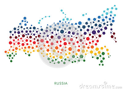 Dotted texture Russia vector background Vector Illustration