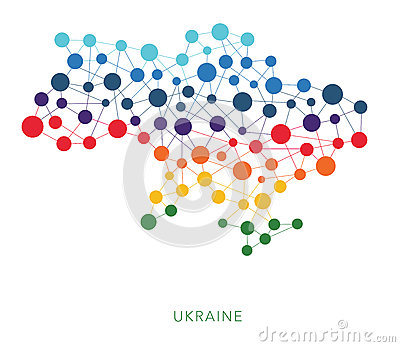 Dotted texture Ukraine with Crimea vector Vector Illustration