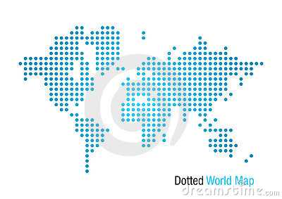 Dotted World Map Stock Photo - Image: 2747360