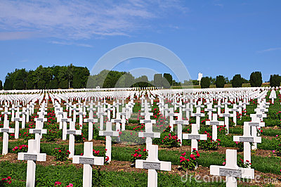 Ossuaire de Douaumont at Verdun, France Editorial Image