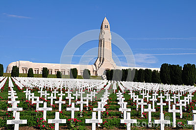 Douaumont Ossuaire Memorial in Verdun, France Editorial Photography