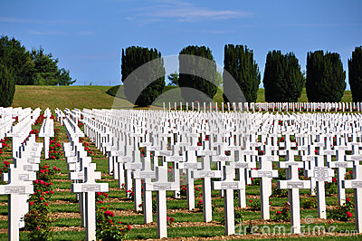 Ossuaire de Douaumont at Verdun, France Editorial Photo