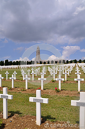 Ossuaire de Douaumont at Verdun, France Editorial Photography