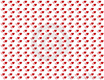 Double Baby Hearts Seamless Background